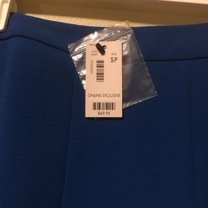 A Line Loft NWT electric blue Skirt